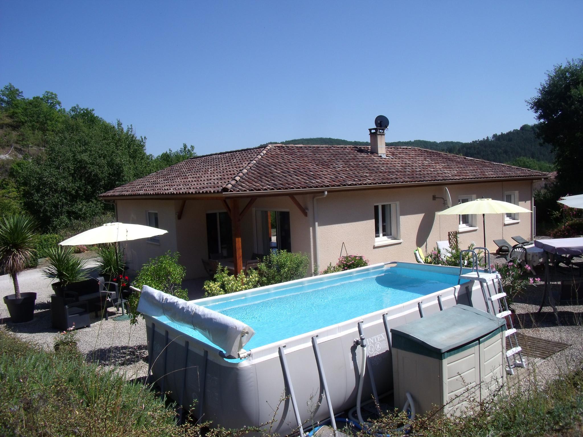 Vente maison villa maison de plain pied avec piscine hors sol - Maison hors sol ...